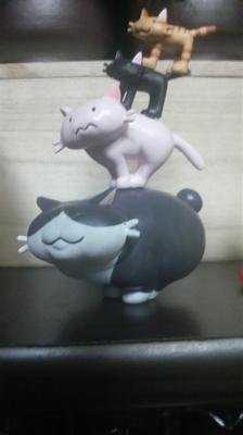 親猫の上に子猫を乗せて・・・・.JPG